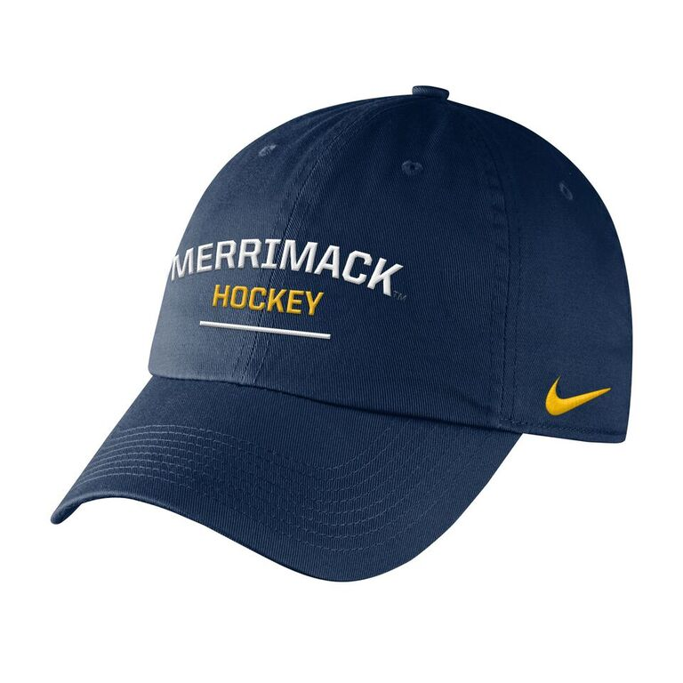 Navy Merrimack Hockey Cap