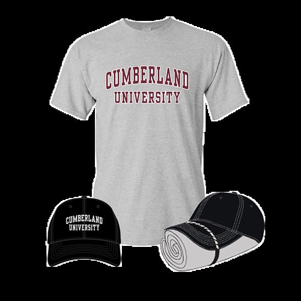Cumberland University Tshirt and Hat Combo