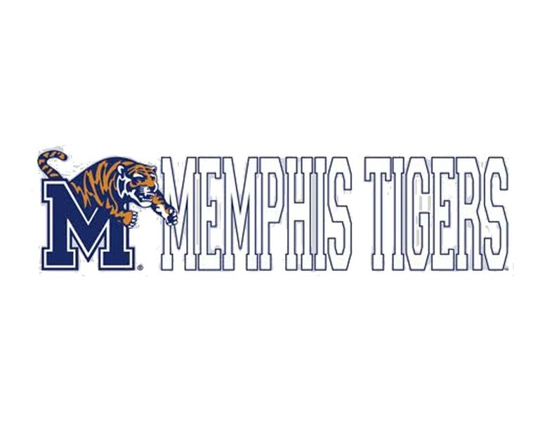 White Memphis Tigers Decal