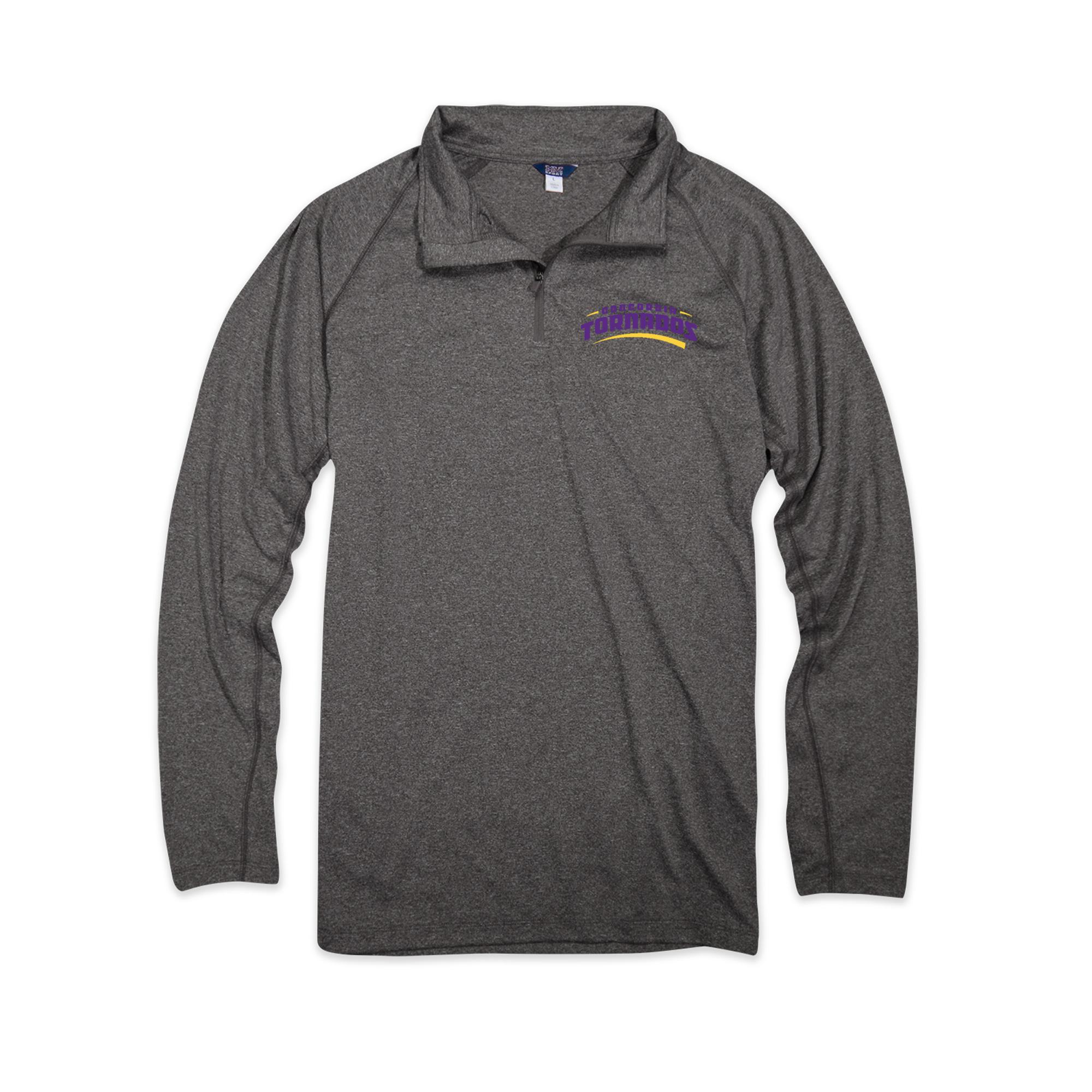 Athletic Long Sleeve Quarter Zip - Heather Black