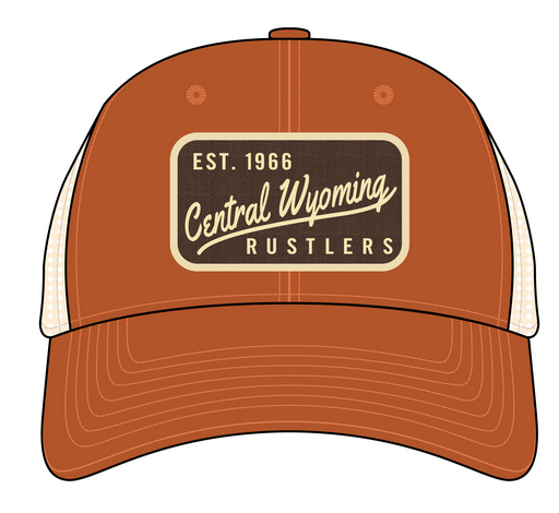 Vintage Rust Central Wyoming Rustlers Meshback Cap