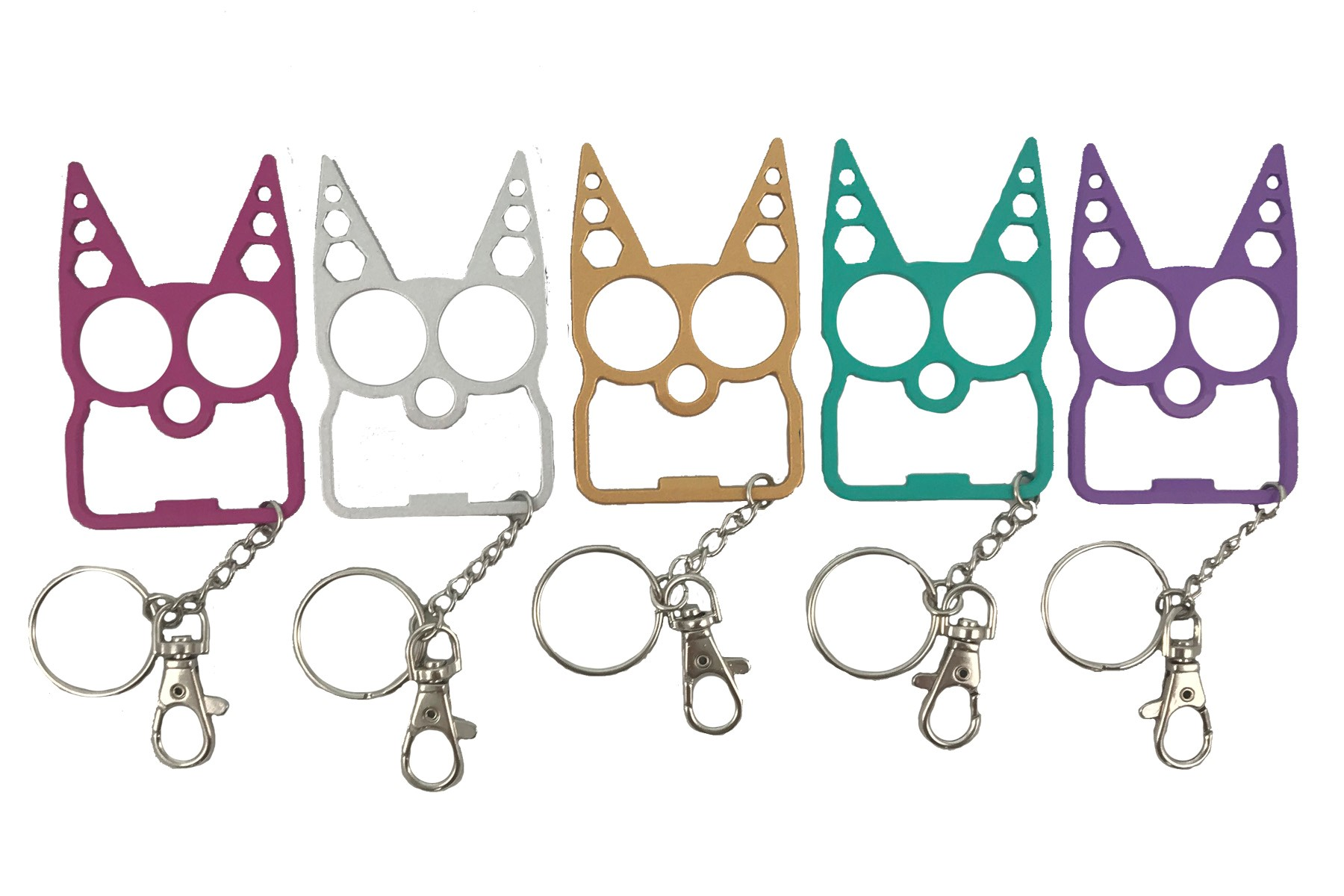 FDP Cat Tactical Defense Keychain - Assorted Colors
