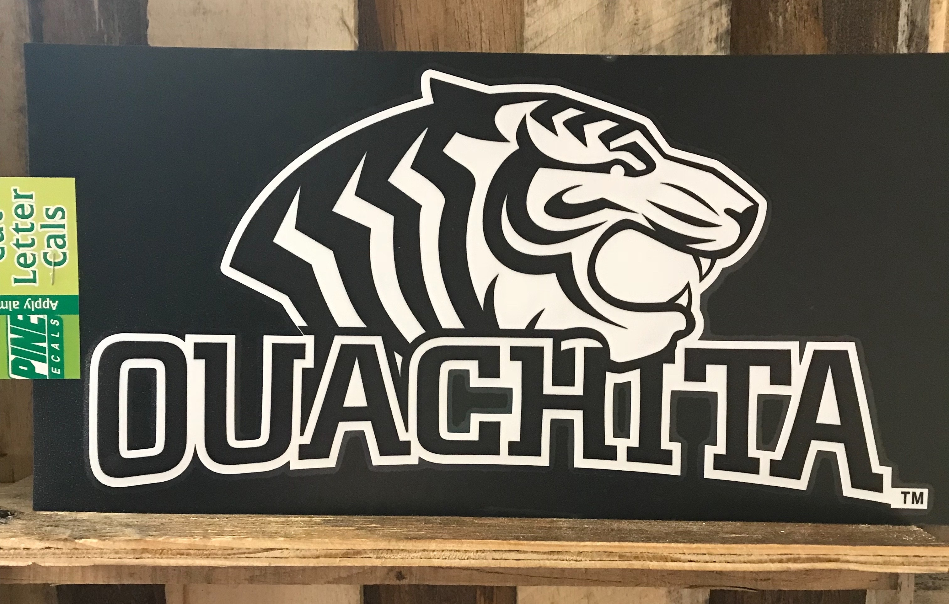 LARGE OUACHITA TIGER STICKER
