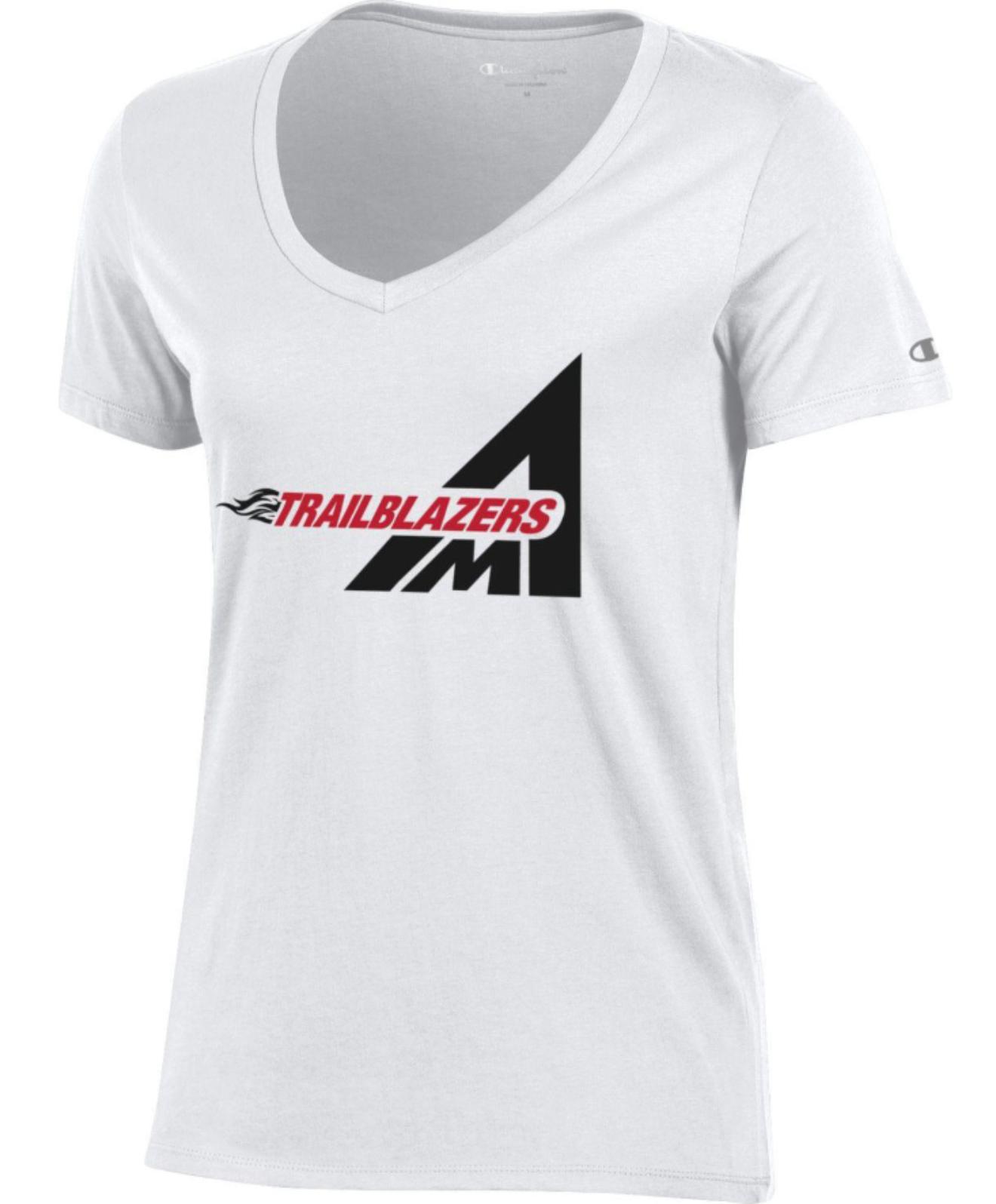 Atlanta Metropolitan State College Trailblazers Women's V-Neck Short Sleeve T-Shirt