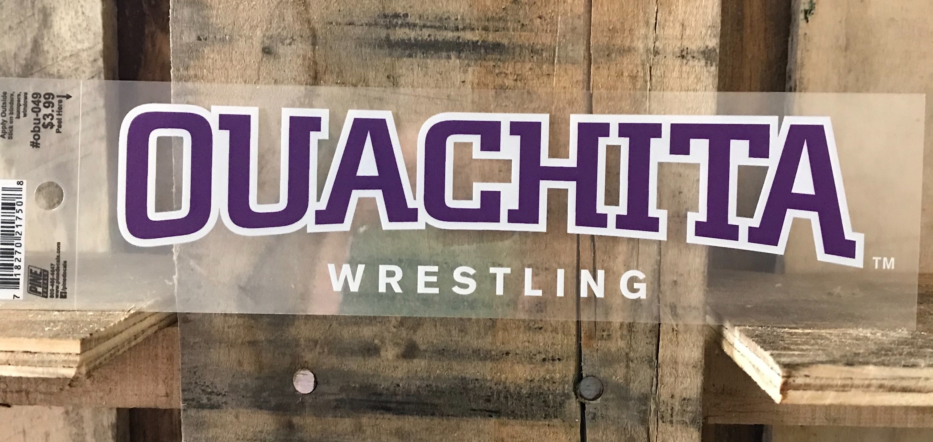 OUACHITA WRESTLING CLEAR CAR DECAL