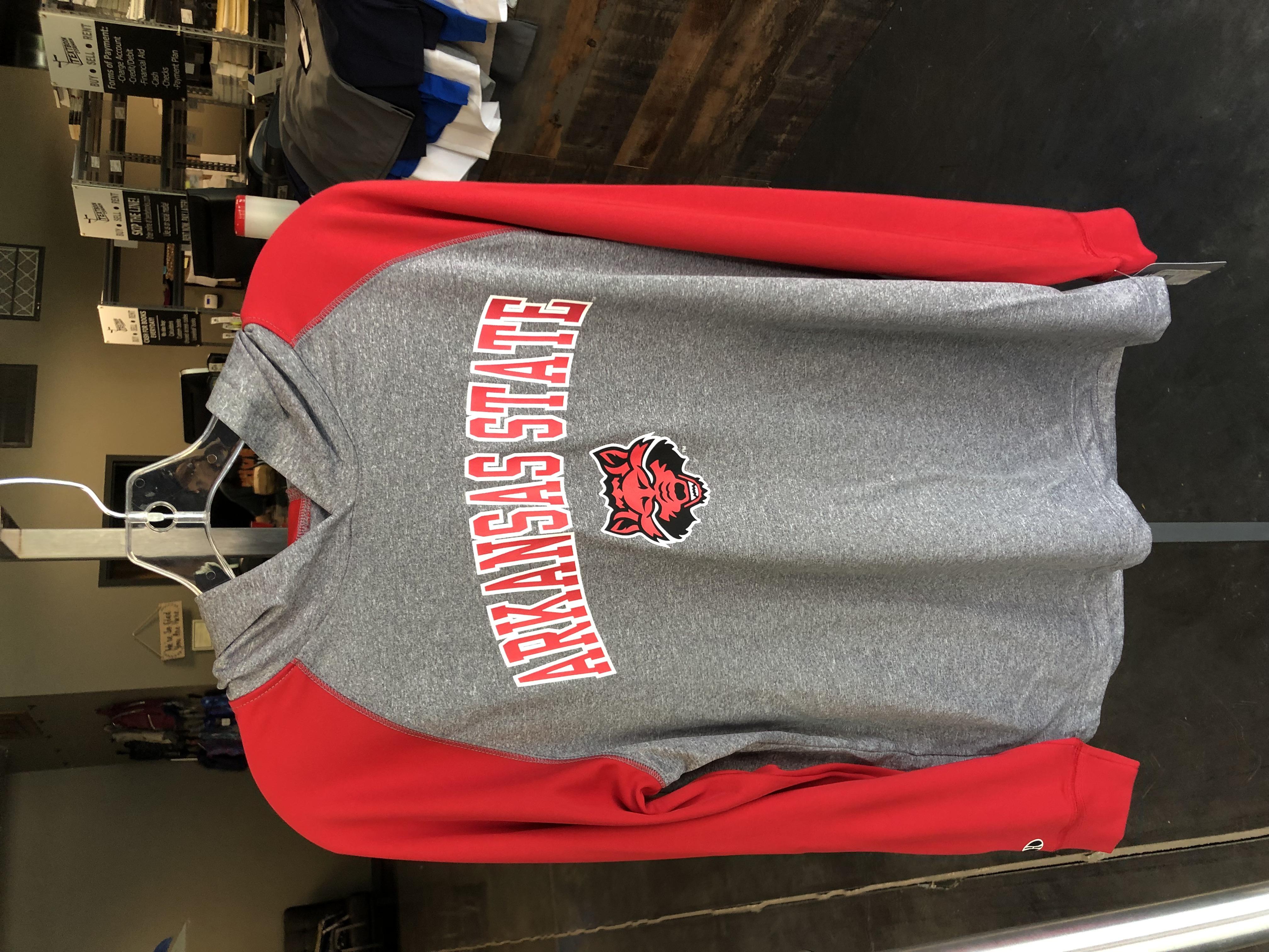 ASU-J Hoodie Grey and Red Sleeves