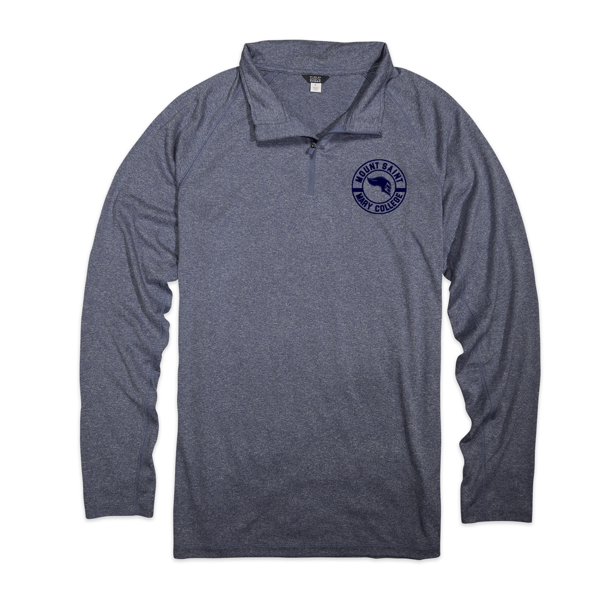 Athletic 1/4 Zip - Heather Navy