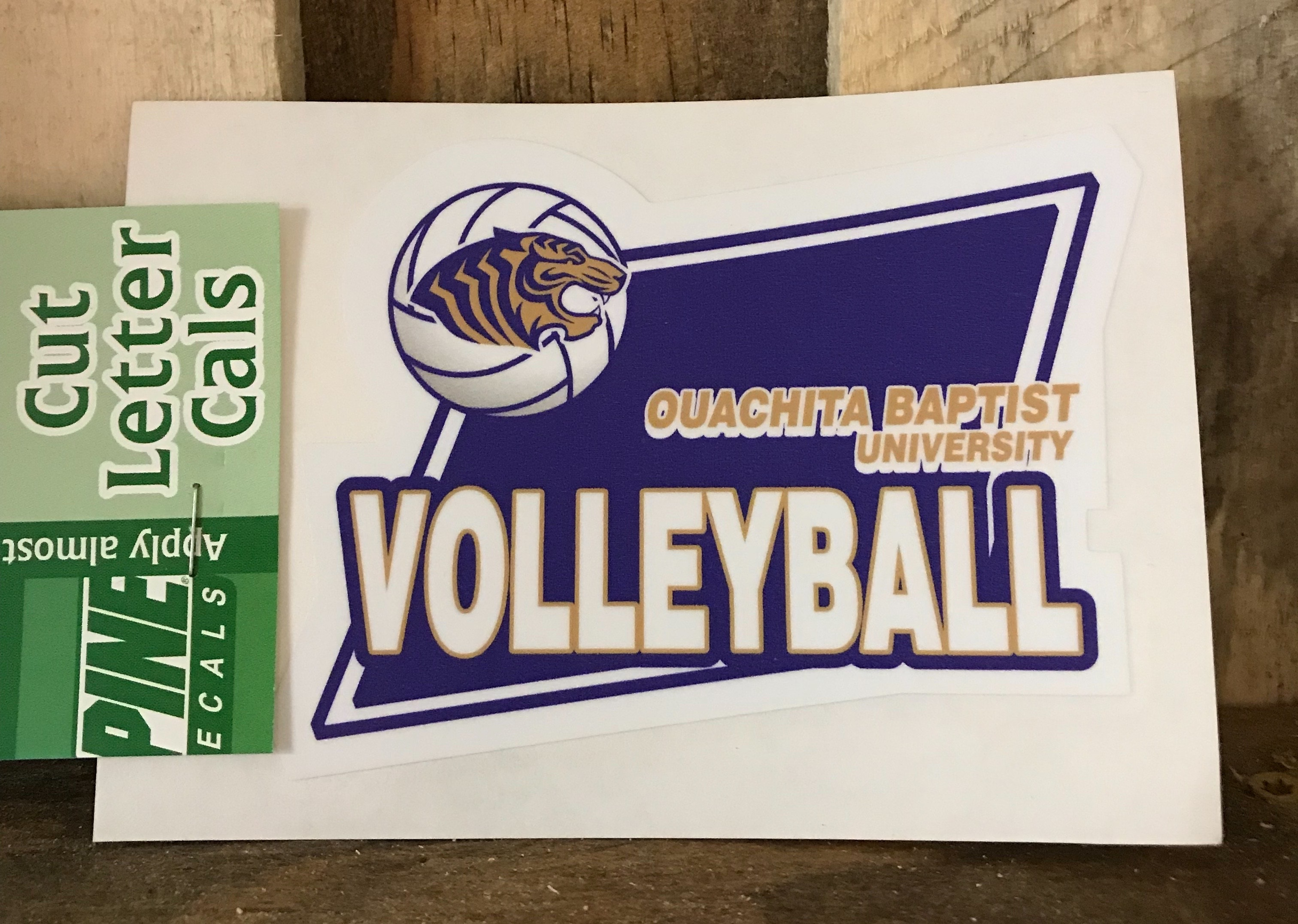 OBU VOLLEYBALL CUT LETTER DECAL