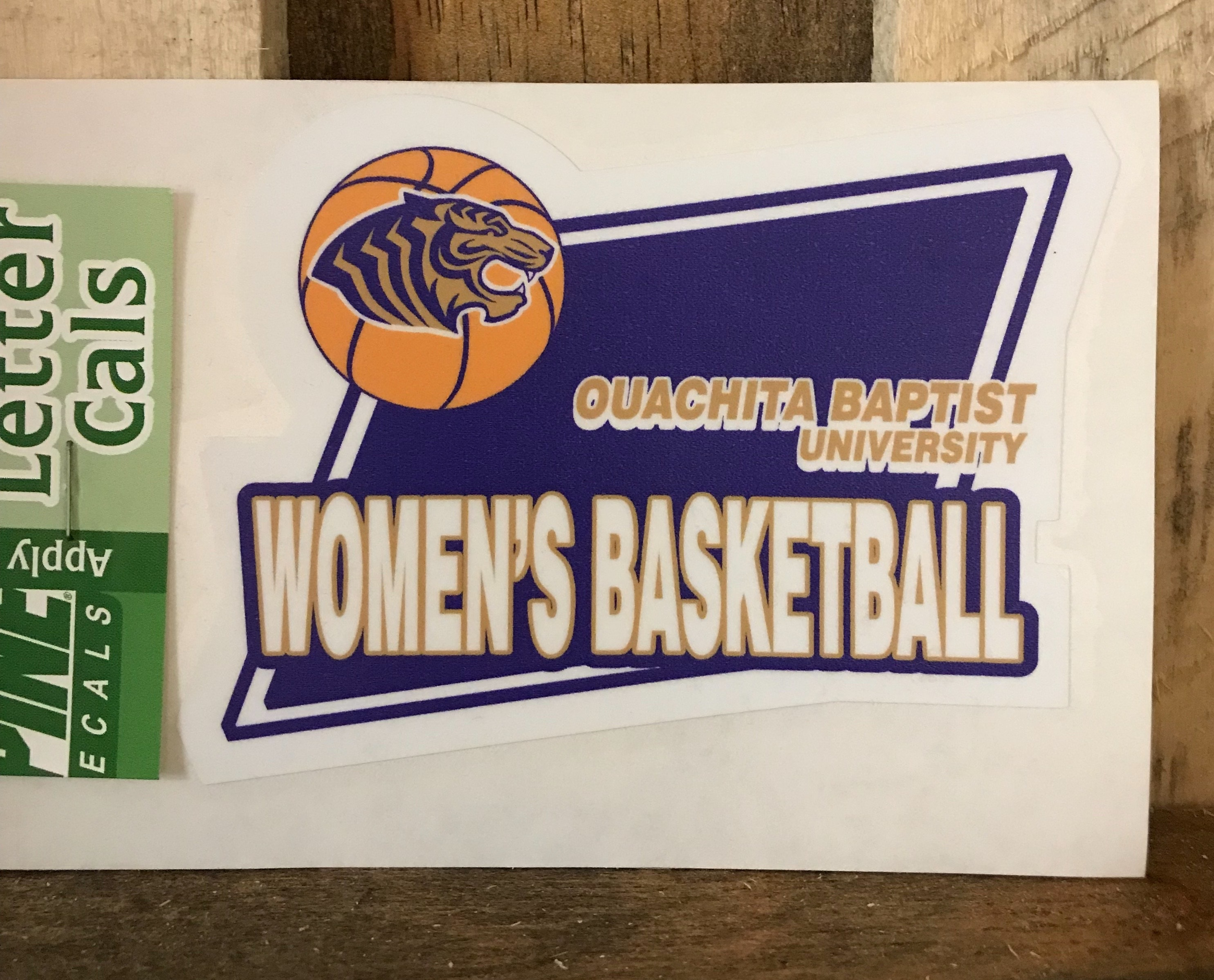 OBU WOMEN'S BASKETBALL CUT LETTER DECAL