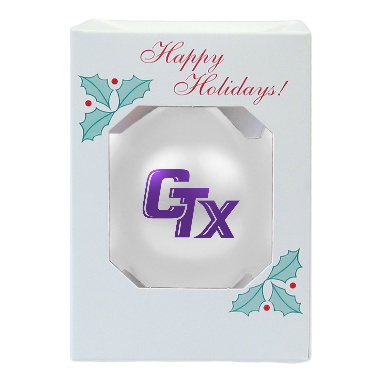 CTX Shatterproof Ornament - Pearl White