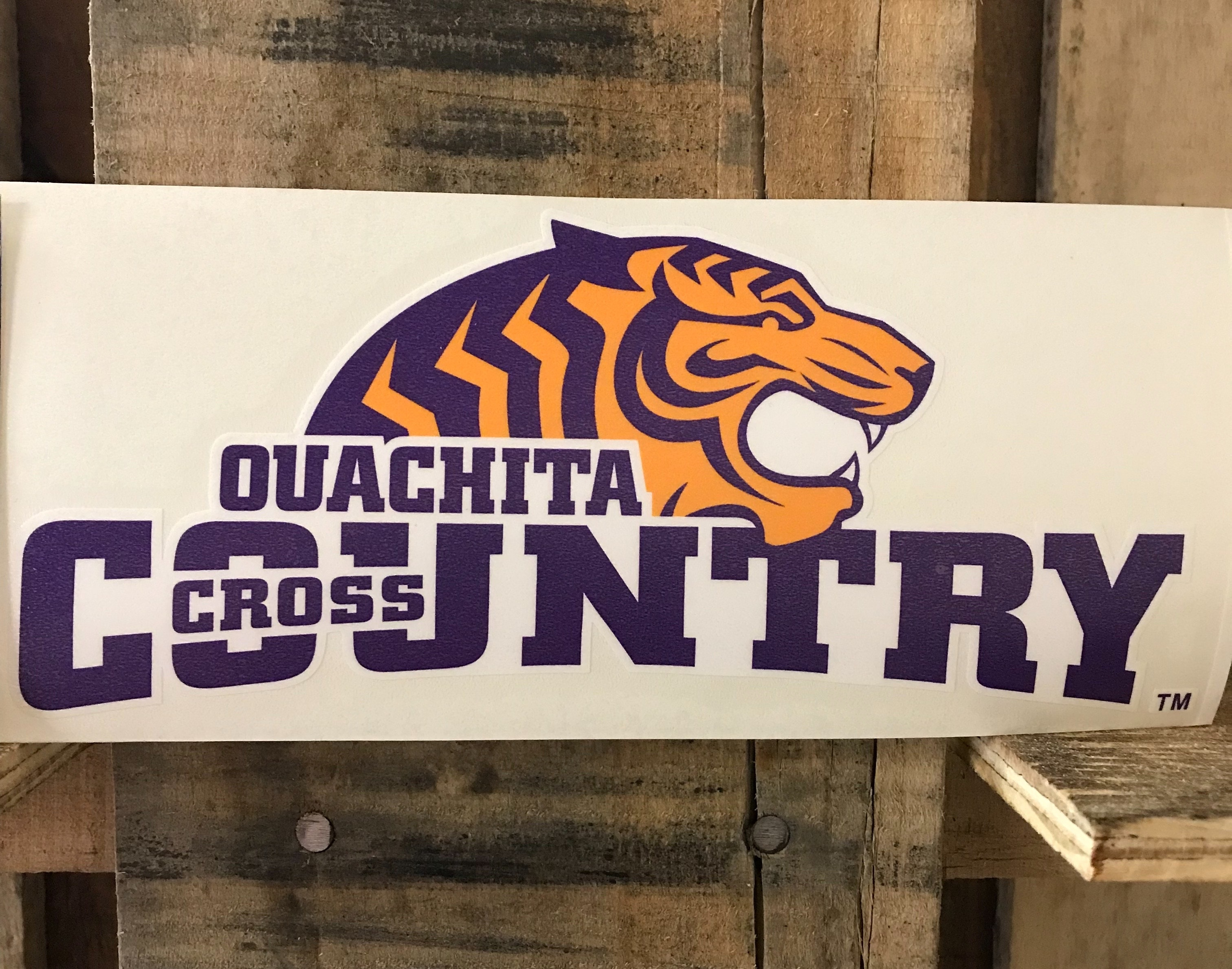 TIGER CROSS COUNTRY CAR DECAL