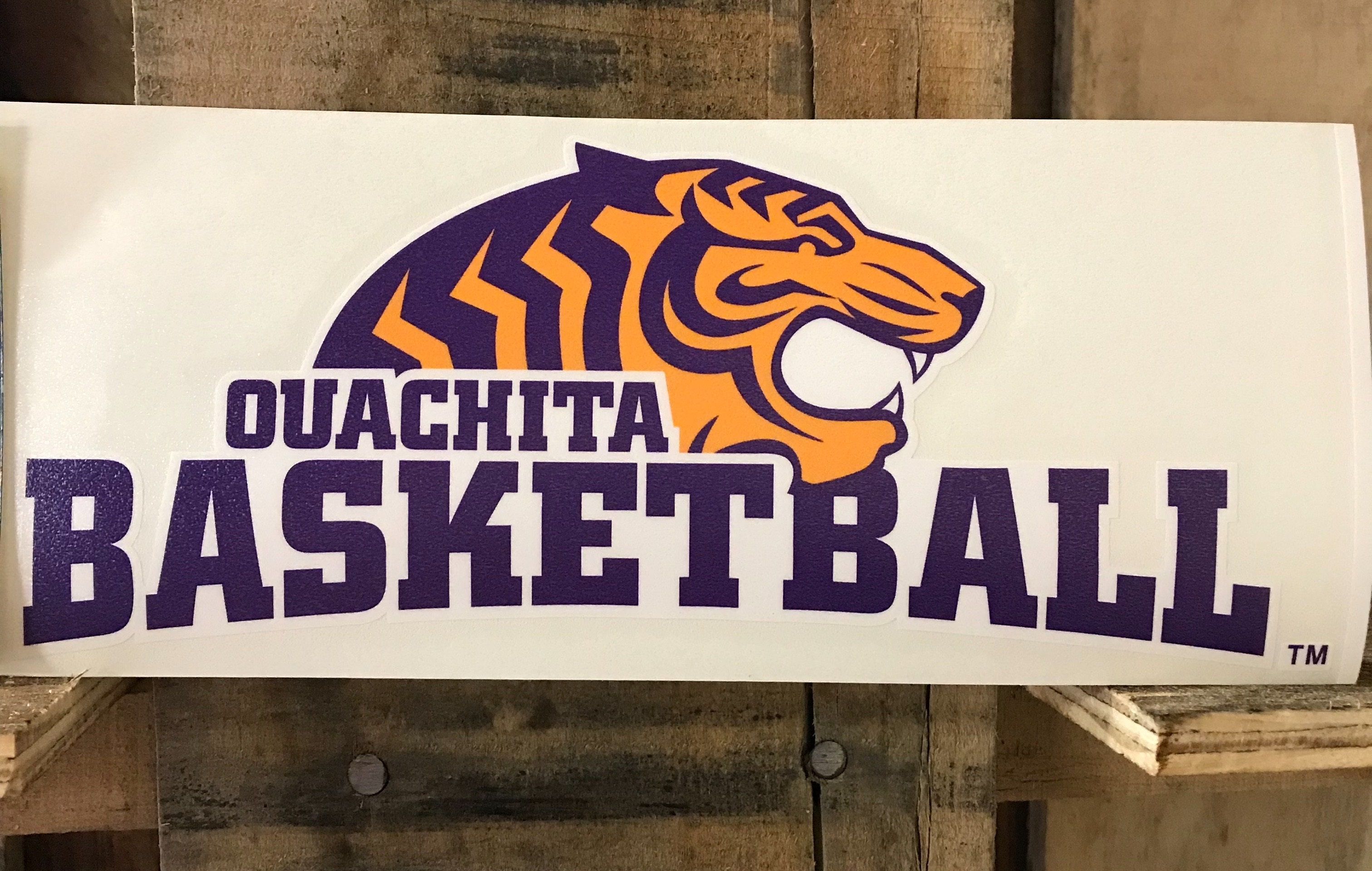 TIGER BASKETBALL CAR DECAL