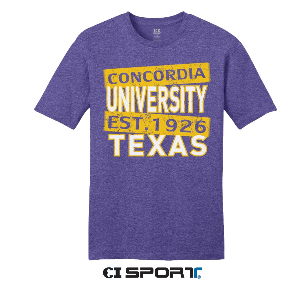 Concordia University EST 1926 Tee - Heather Purple