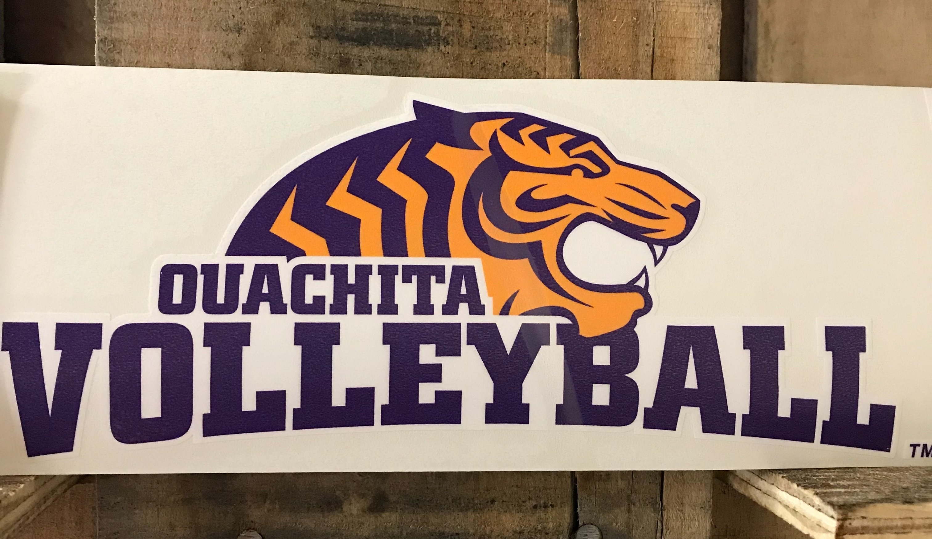 TIGER VOLLEYBALL CAR DECAL