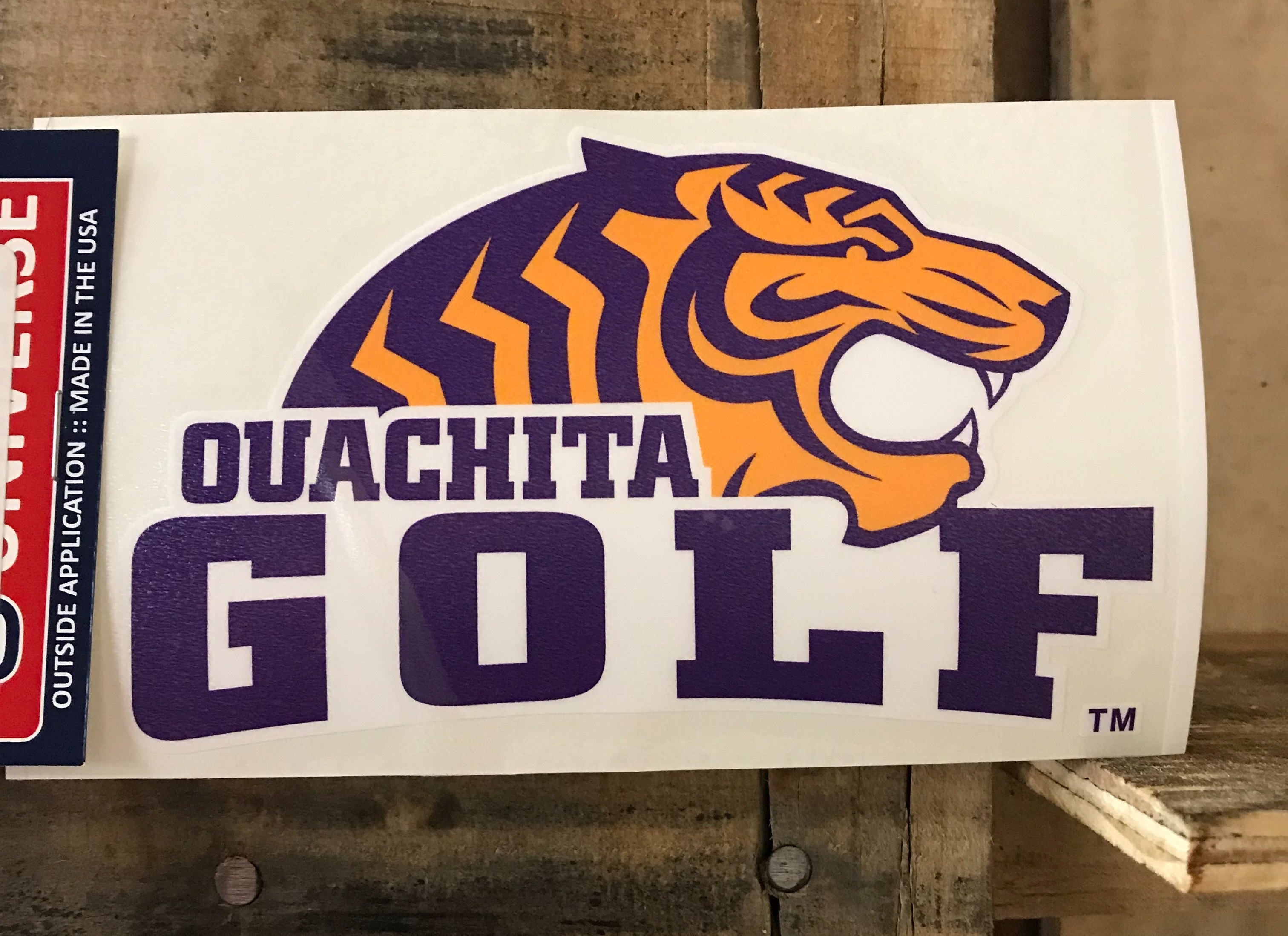 TIGER GOLF CAR DECAL
