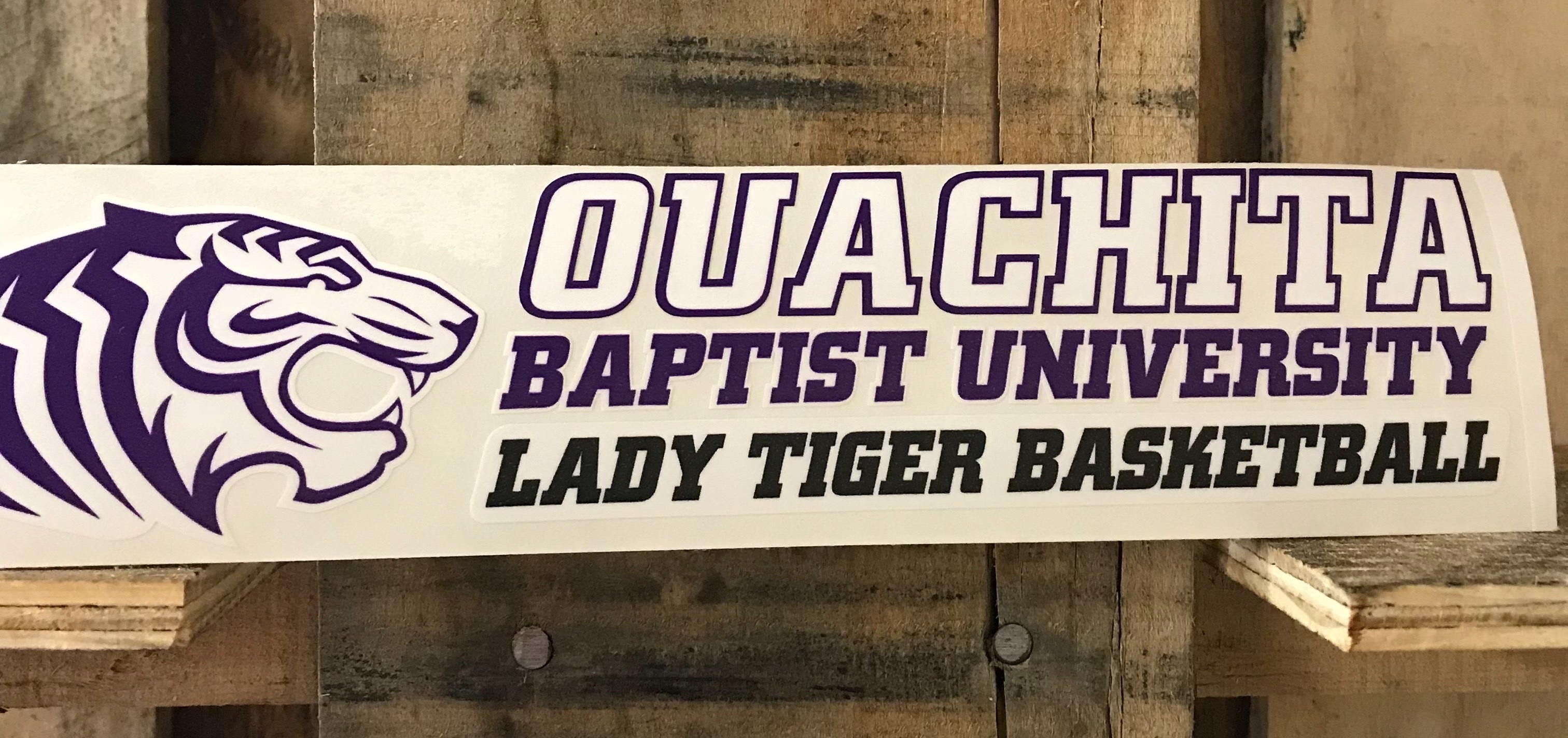 OBU LADY TIGER BASKETBALL CAR DECAL