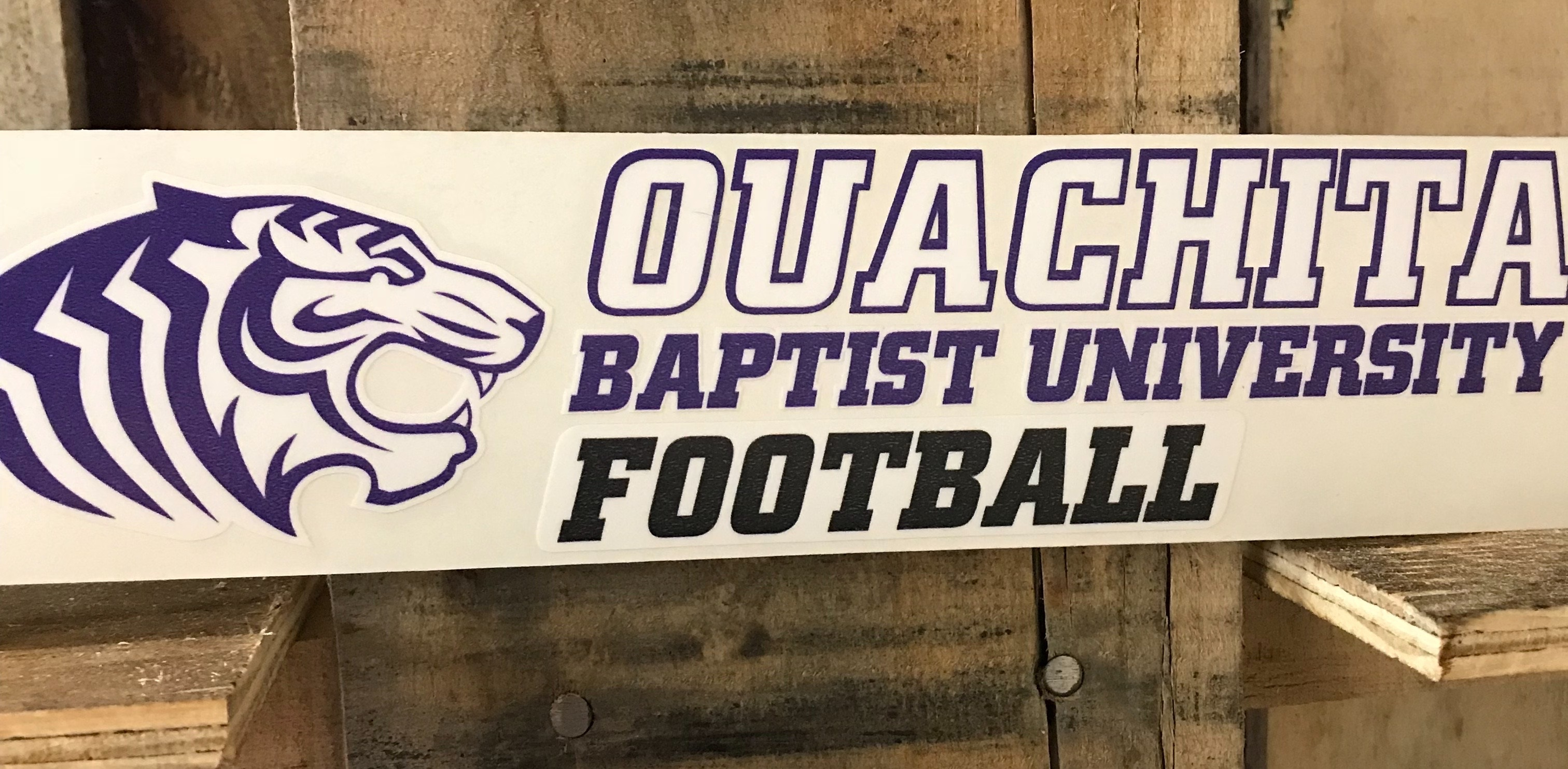 OBU FOOTBALL CAR DECAL