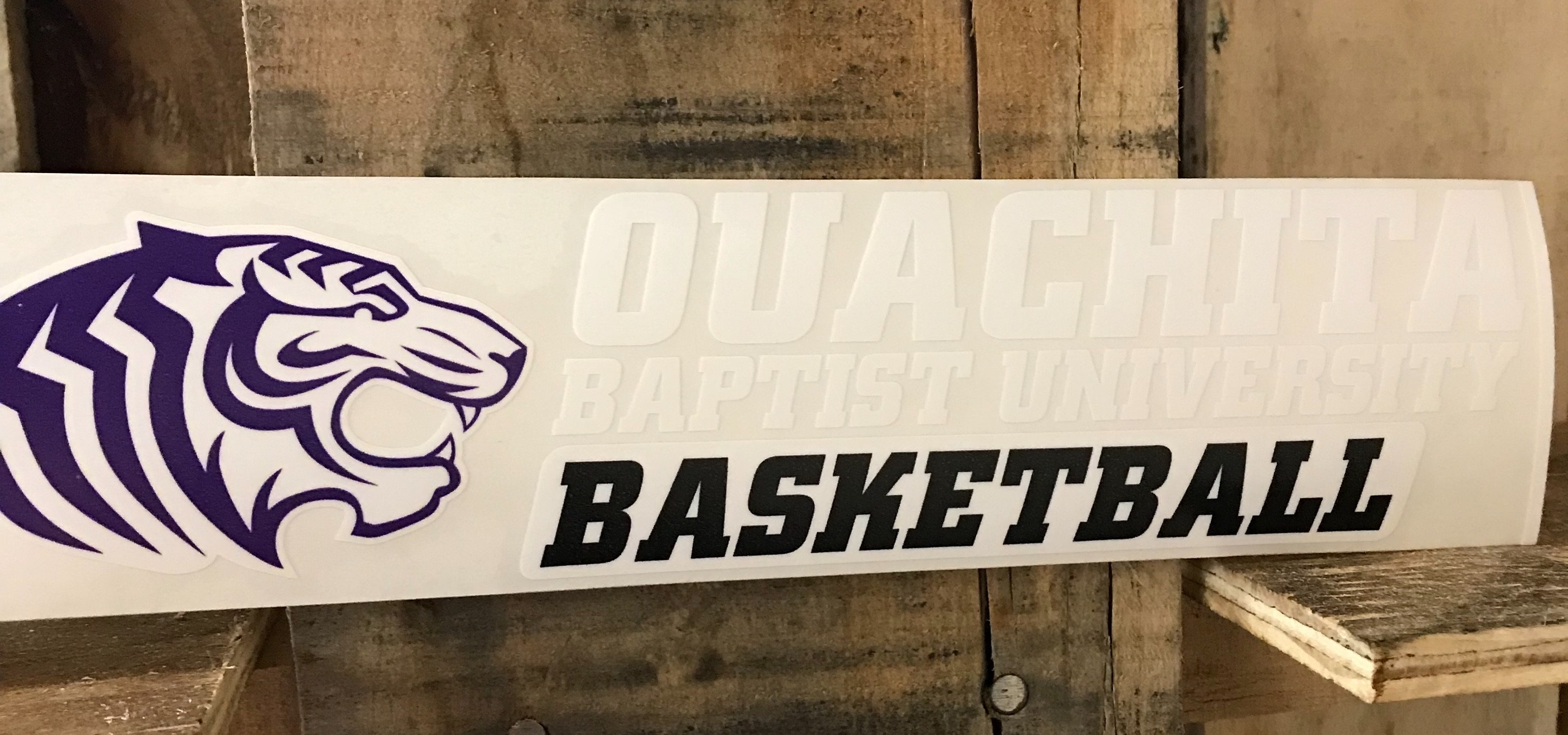 OBU BASKETBALL CAR DECAL