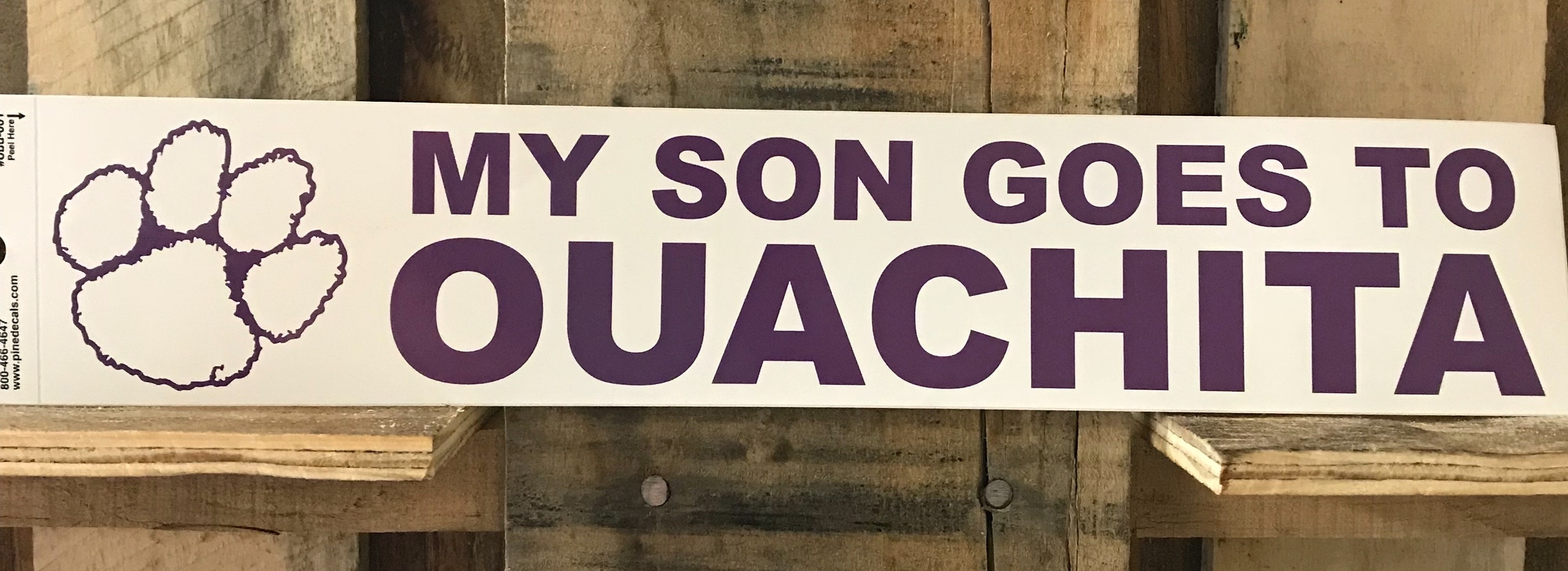 BUMPER STICKER- MY SON GOES TO OUACHITA