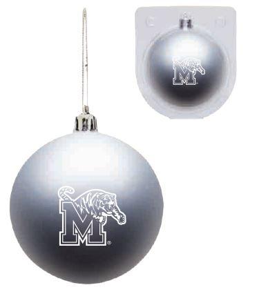 Shatterproof Ornament - Silver-Tiger