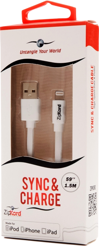ZipKord 5ft Lightning (IPhone) Charging Cable
