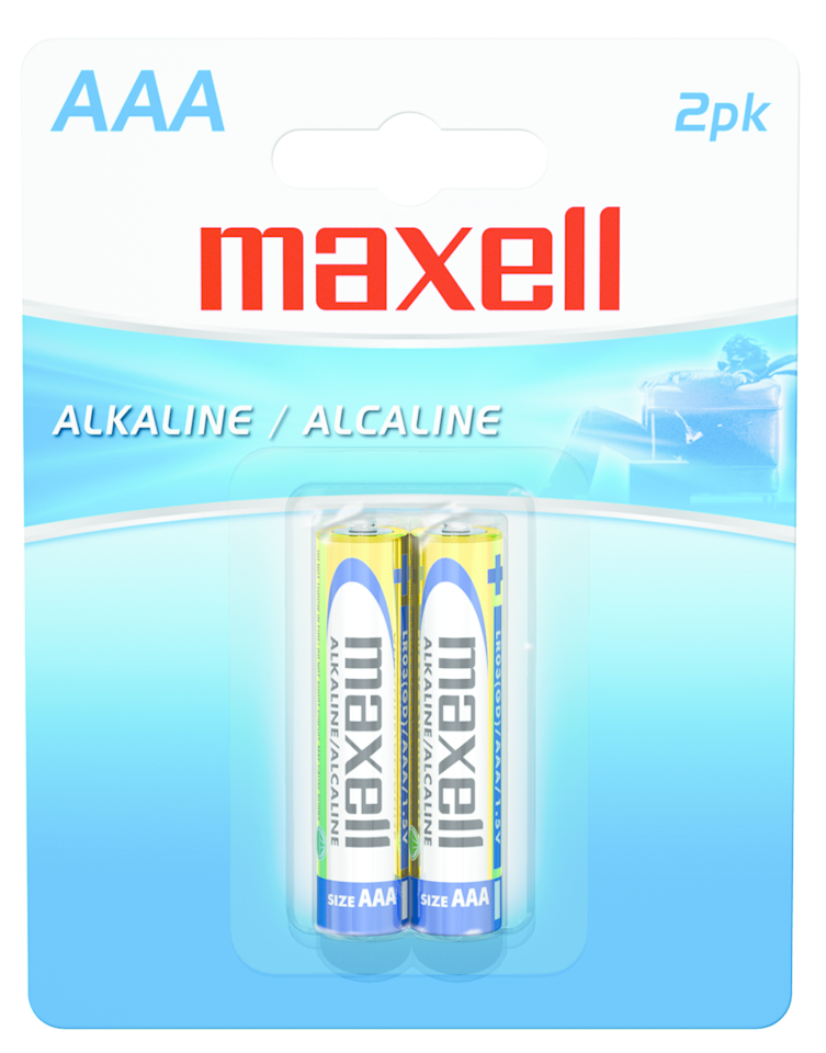 MAXEL AAA BATTERIES PACK OF 2