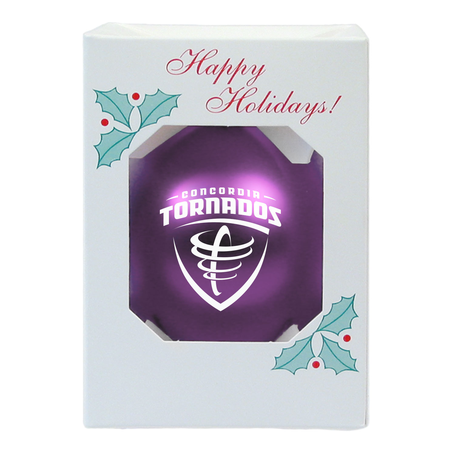 Tornados Shatterproof Ornament - Purple