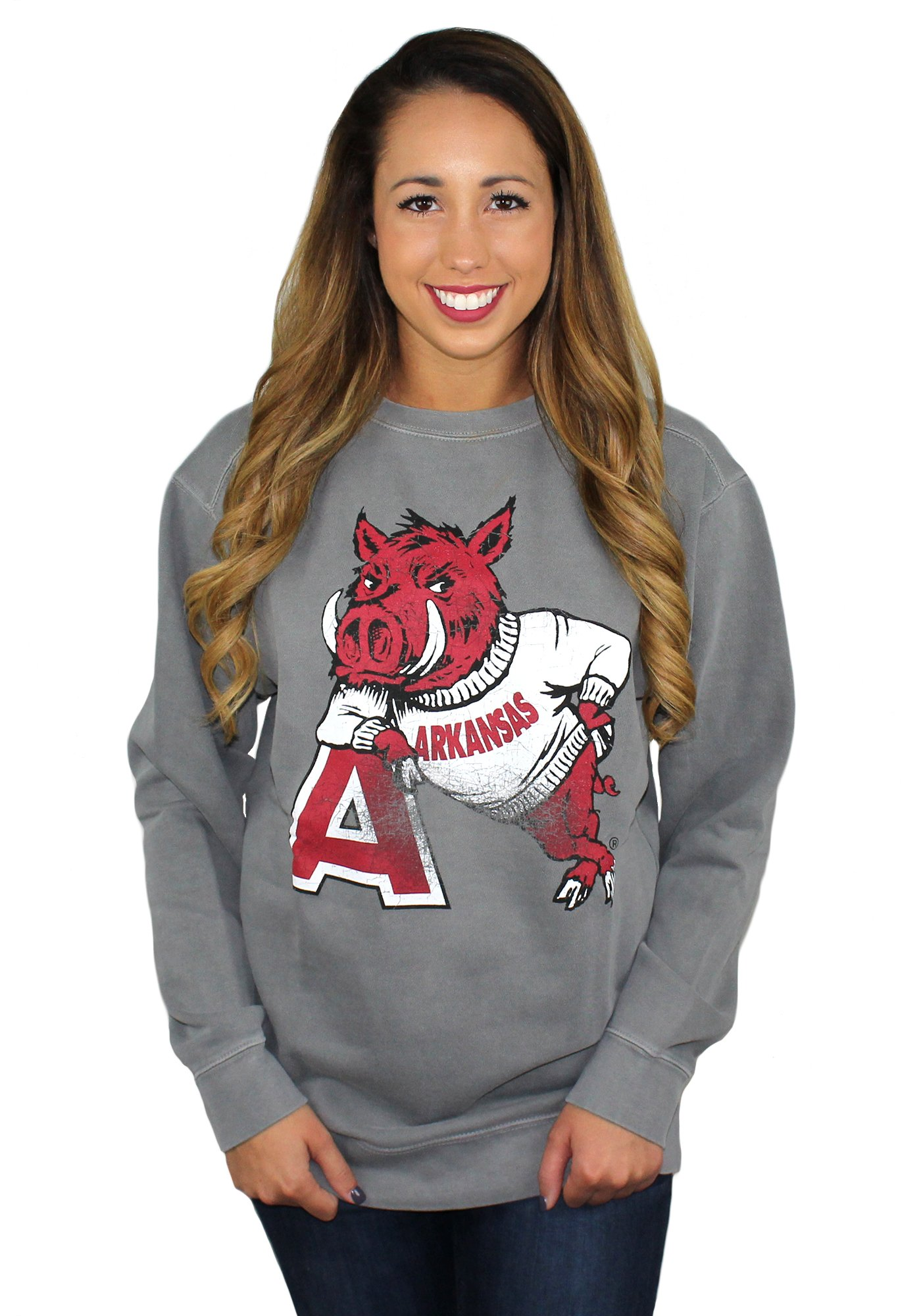 HOG LEANING ON 'A' SWEATSHIRT