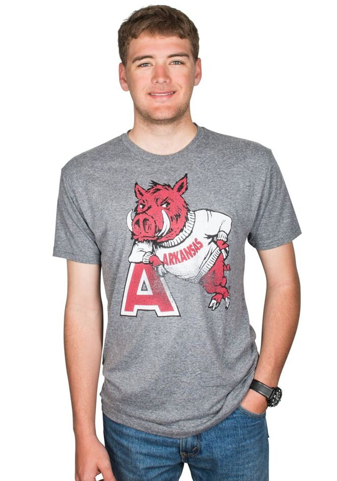 HOG LEANING ON 'A'- SHORT SLEEVE