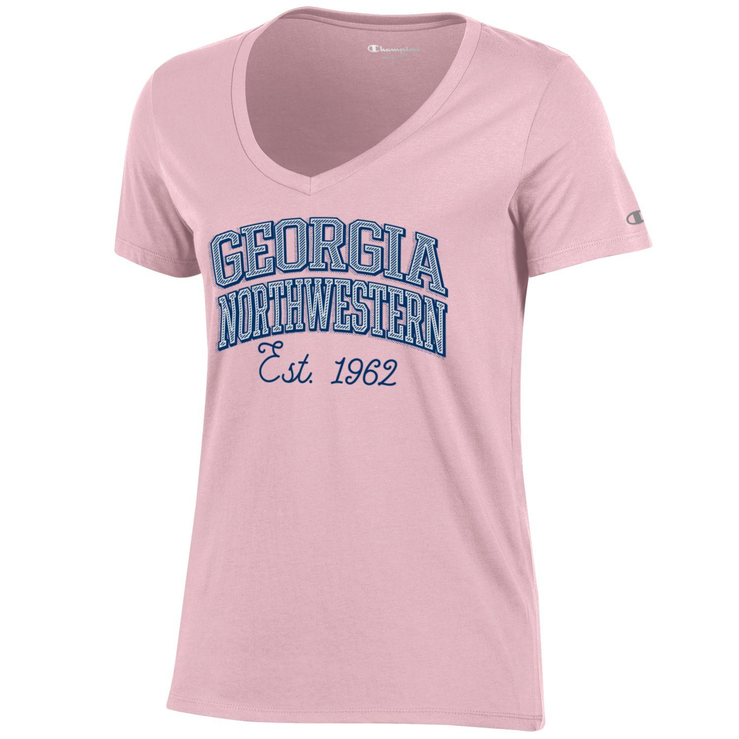 Georgia Northwestern Script Est. 1962 University Vneck