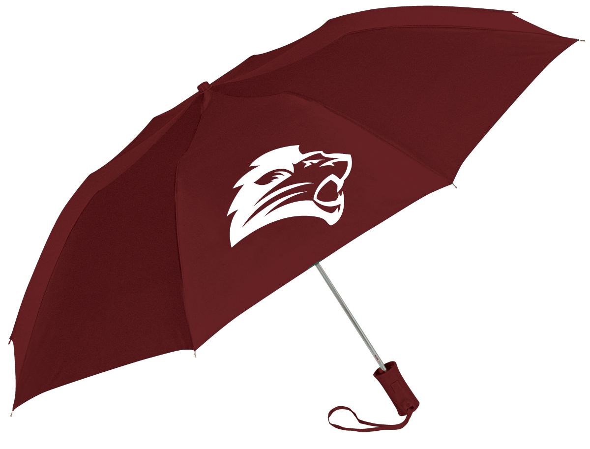 Classic Maroon Lion Umbrella