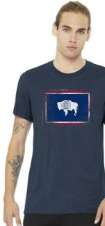 Distressed Wyoming State Flag T-Shirt