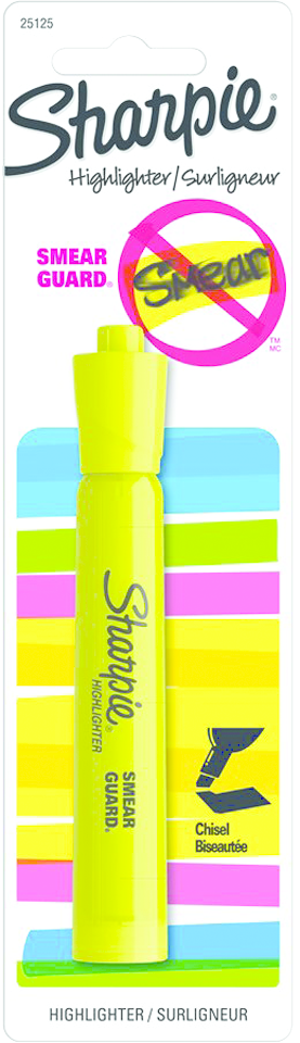 Sharpie Jumbo Tank Style Highlighter - Yellow Chisel 1Pk BP