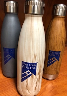 Fort Lewis College Wood Grain Water Bottle