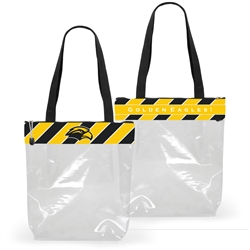Clear Stadium Tote w/ Stripes