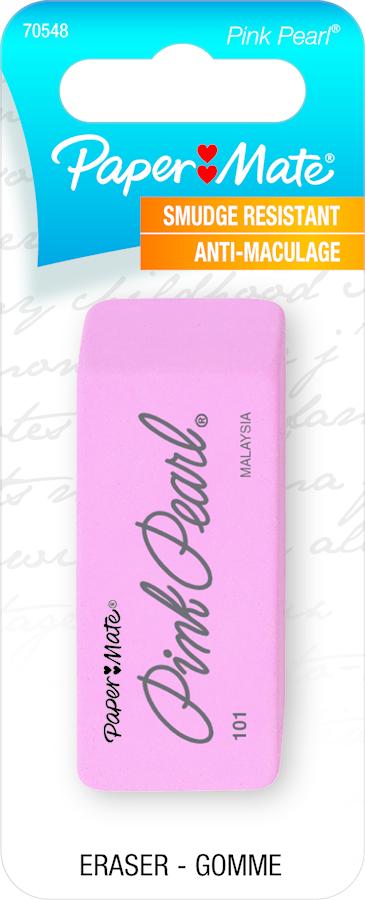 Paper Mate Pearl Eraser - Pink Large 1Pk BP