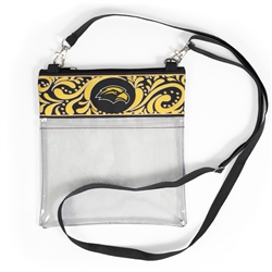 Cross Body Clear Paisley Tote