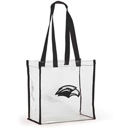 Clear Stadium Tote w/Black Trim