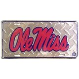 Textured Metal Ole Miss Plate