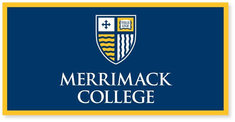 Merrimack College Bookstore 18x36 Shield Banner