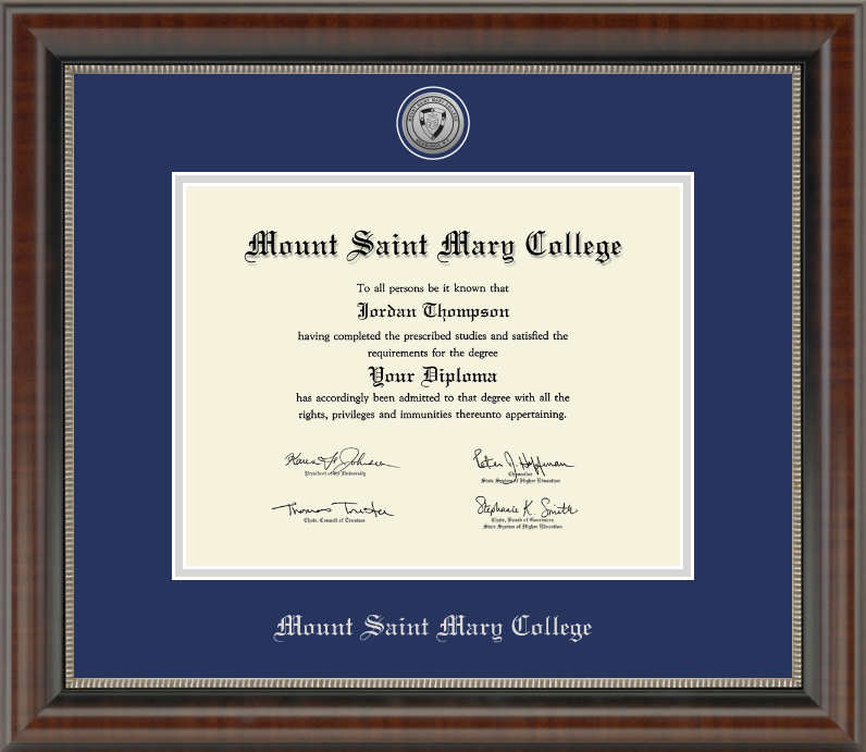 Mount Saint Mary College Bookstore: Diploma Frame 3
