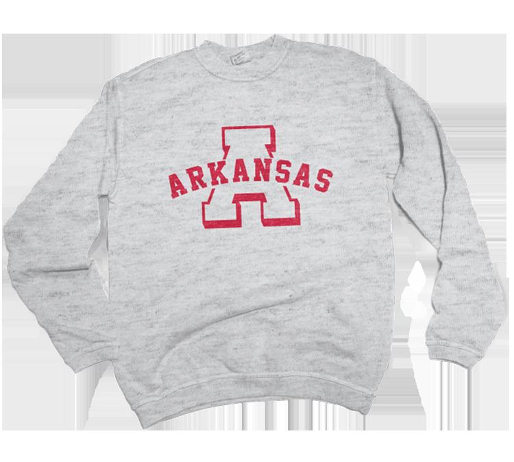 """Arkansas Vintage """"A"""" Sweatshirt"""