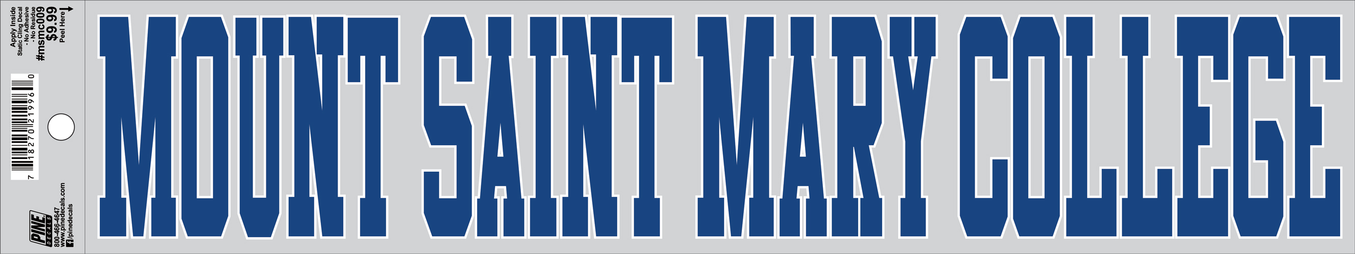 Decal - Mount Saint Mary College