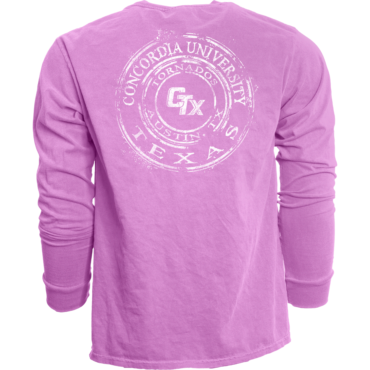 Dyed Ringspun Long Sleeve Tee - Electric Purple