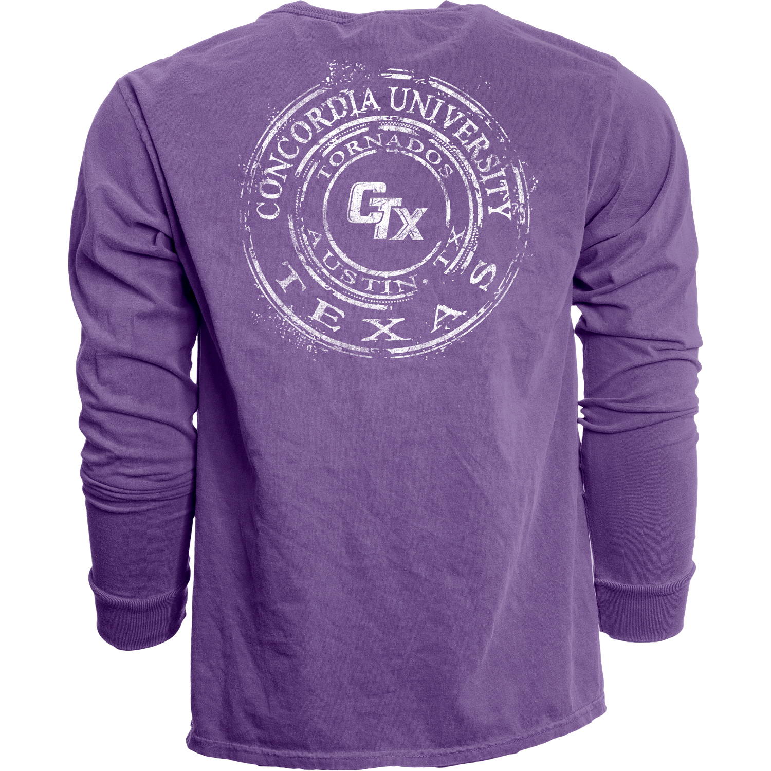 Dyed Ringspun Long Sleeve Tee - Purple