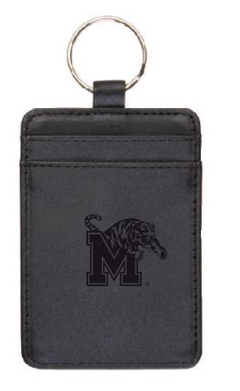 University of Memphis Leather ID Holder/Keychain