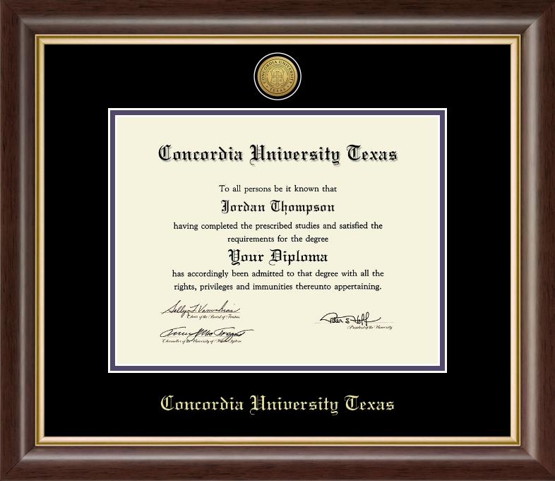 HAMPSHIRE Gold Engraved Medallion Diploma Frame