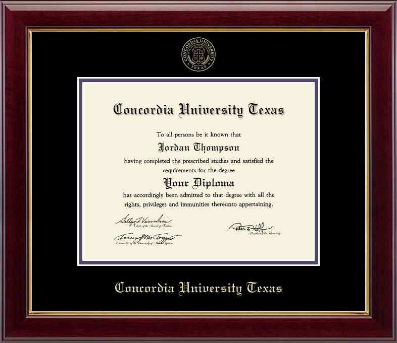 GALLERY Gold Embossed Diploma Frame, Gold Trim