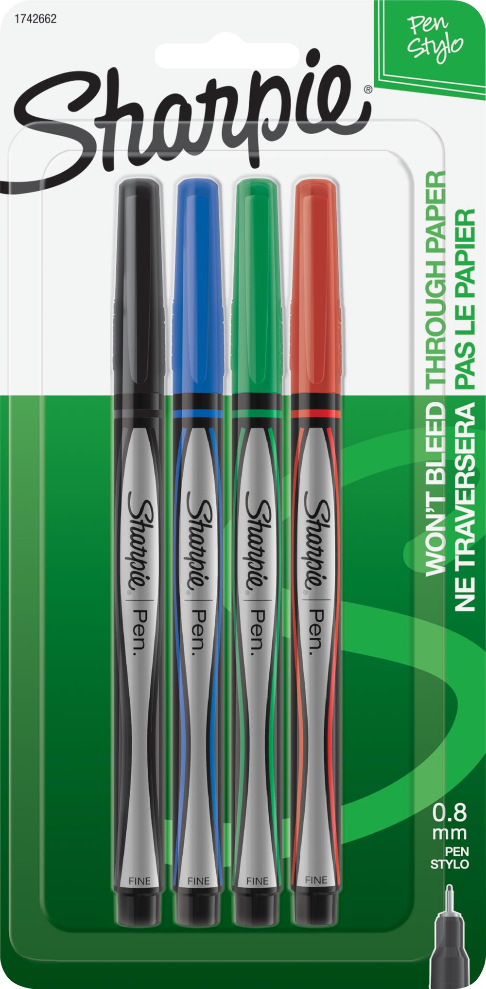 Sharpie Pen - Asst Fine 4Pk BP