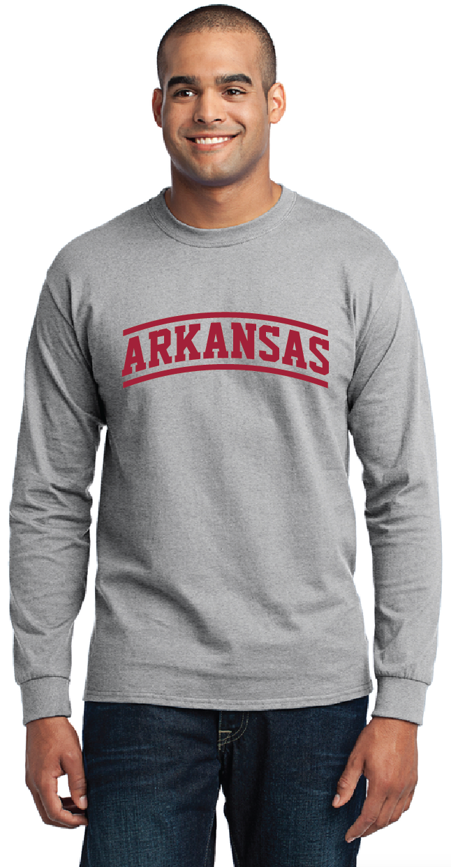 Arkansas Stripes Long Sleeve